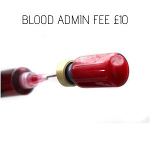 Blood Admin Fee £10